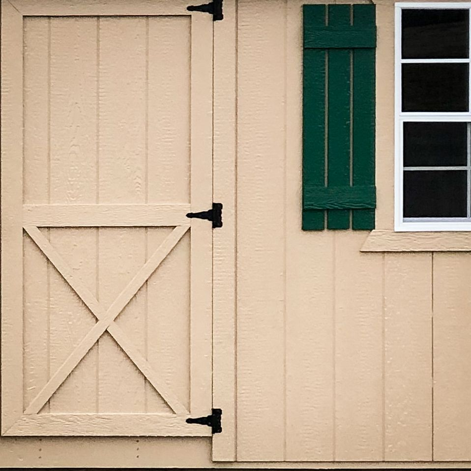 Painted siding for custom sheds in KY and TN