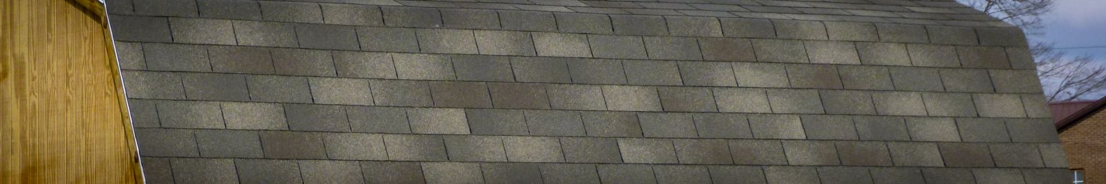 Tab shingle roofing for custom sheds in KY and TN