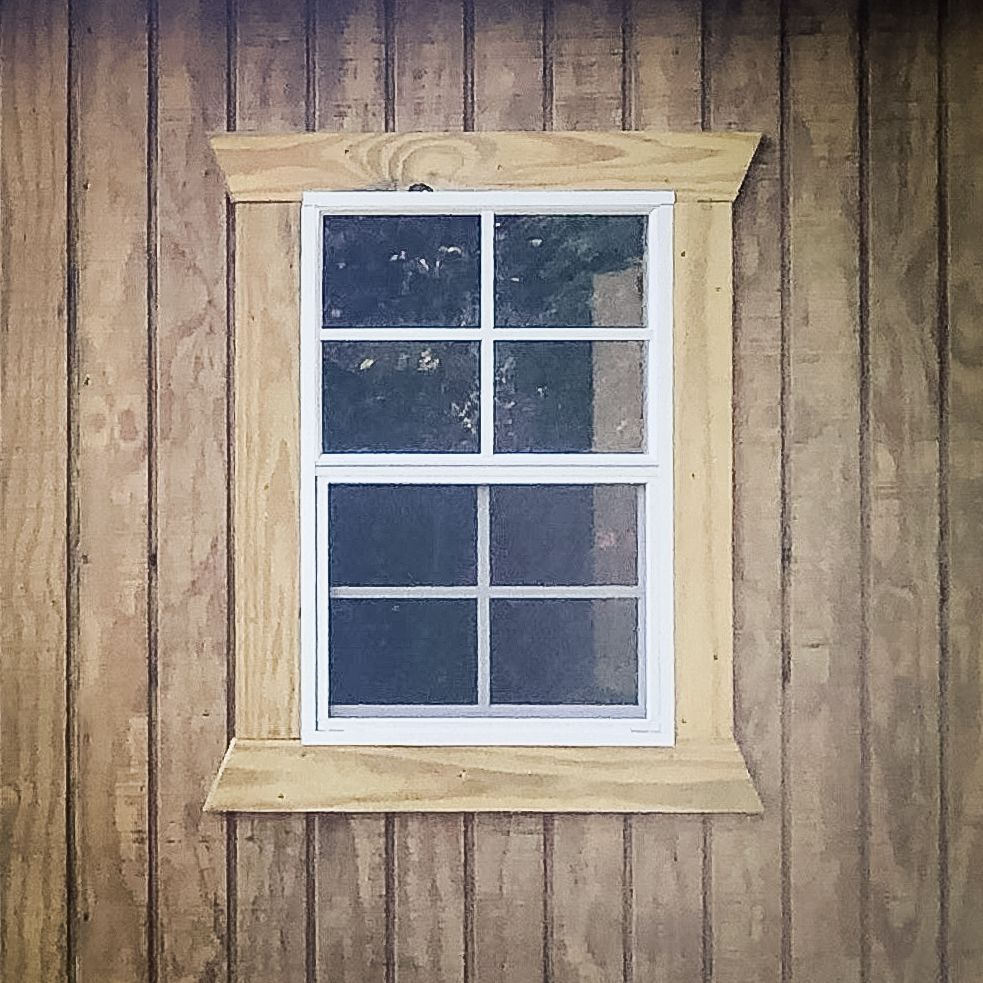 A window for a custom shed in KY
