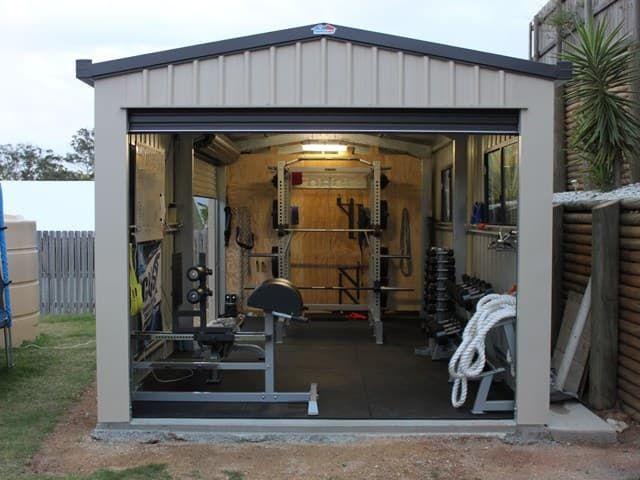 A home gym shed idea