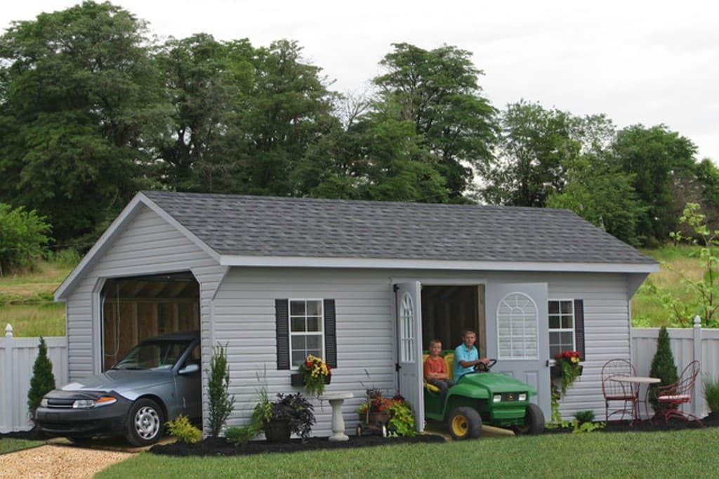 A prefab shed idea for car storage