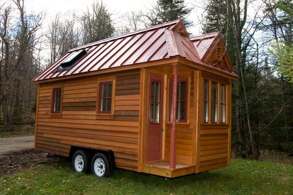 A tiny shed house trailer