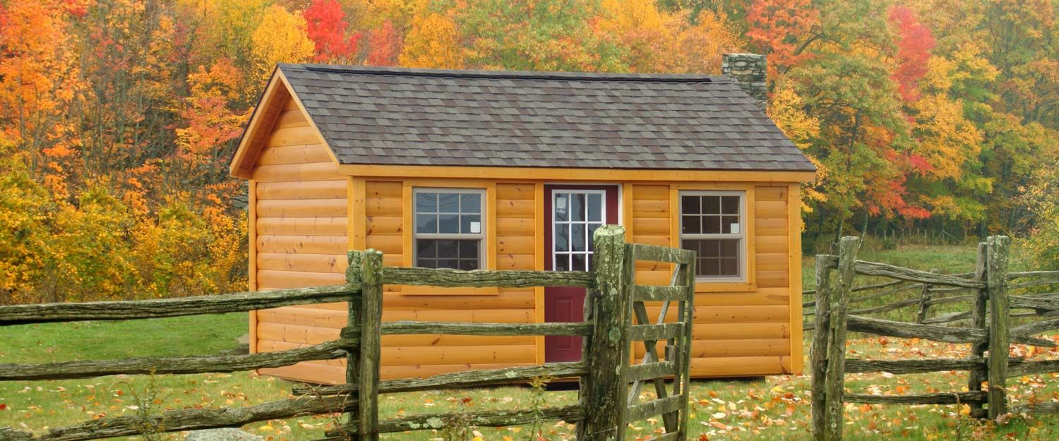 A log cabin shed home in Kentucky or Tennessee