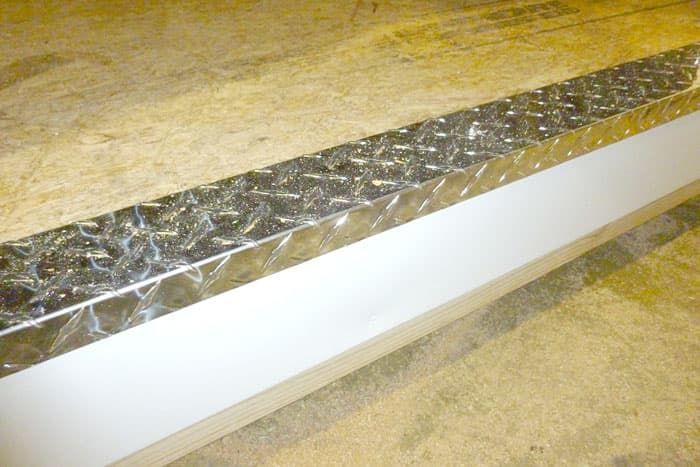 diamond plate threshold on a quality storage building