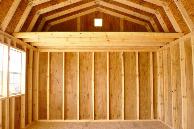inside of a high barn style quality storage building
