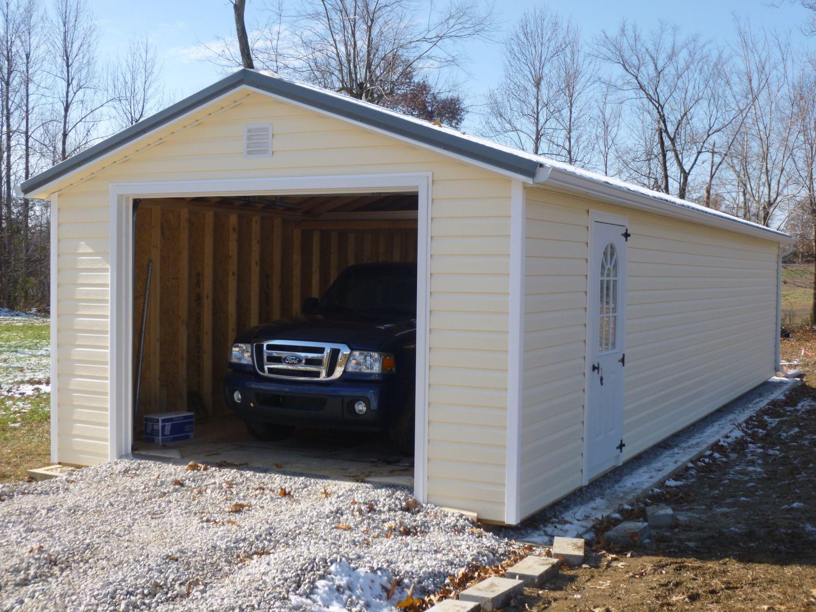 prebuilt garage single car