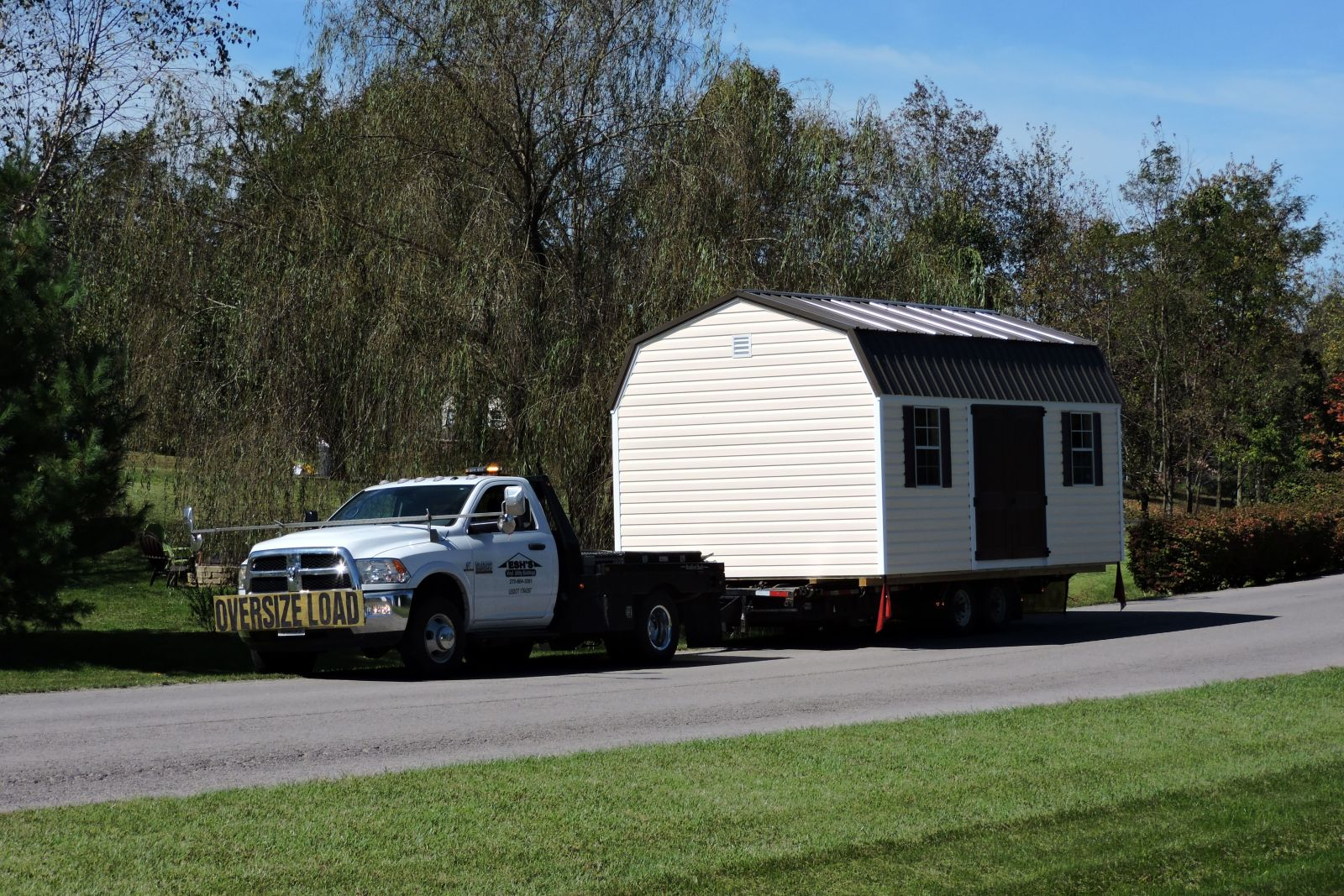 Delivery of a rent to own storage building in Kentucky
