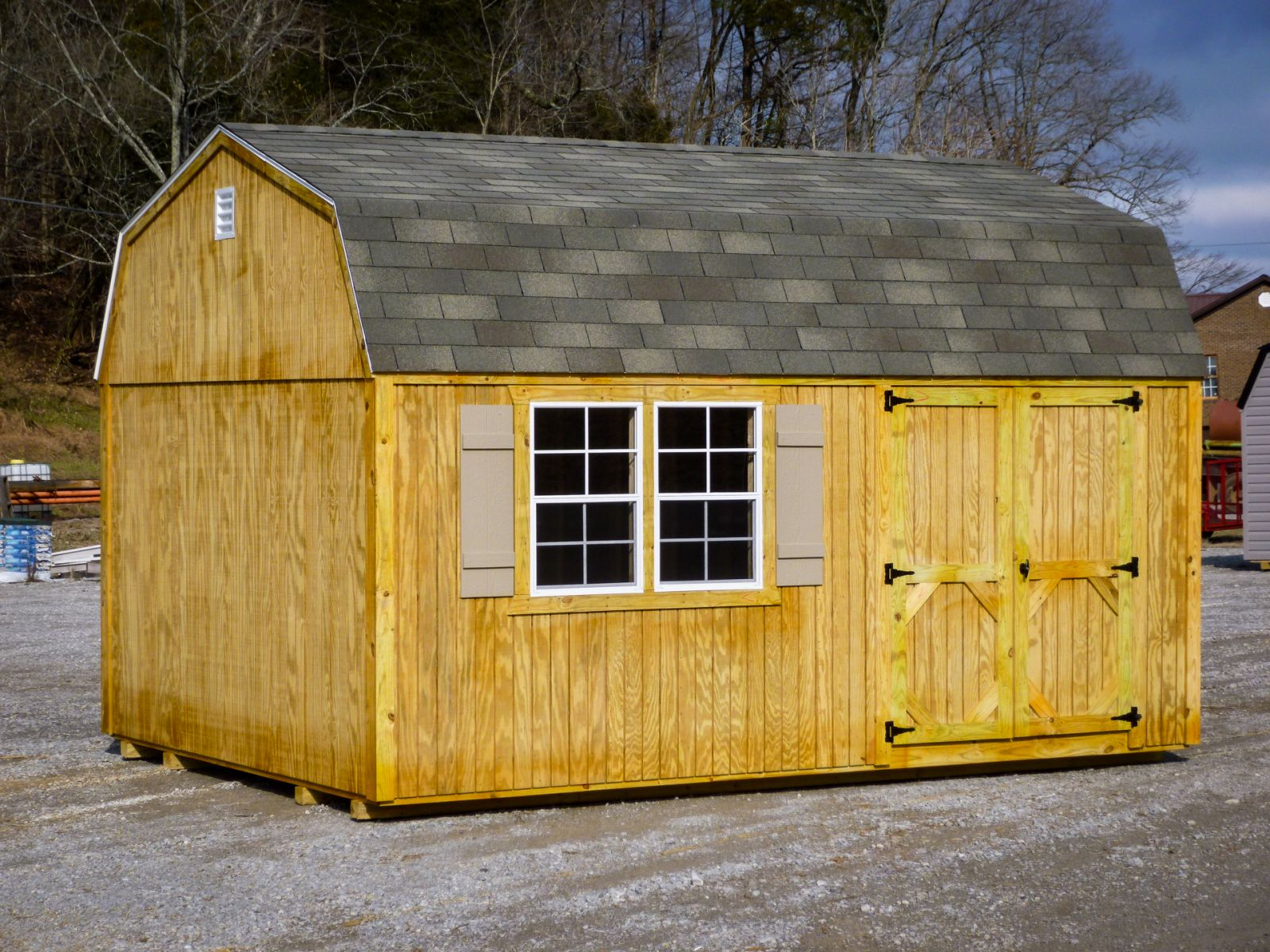 A lofted shed for sale in Columbia and Russell Springs, KY
