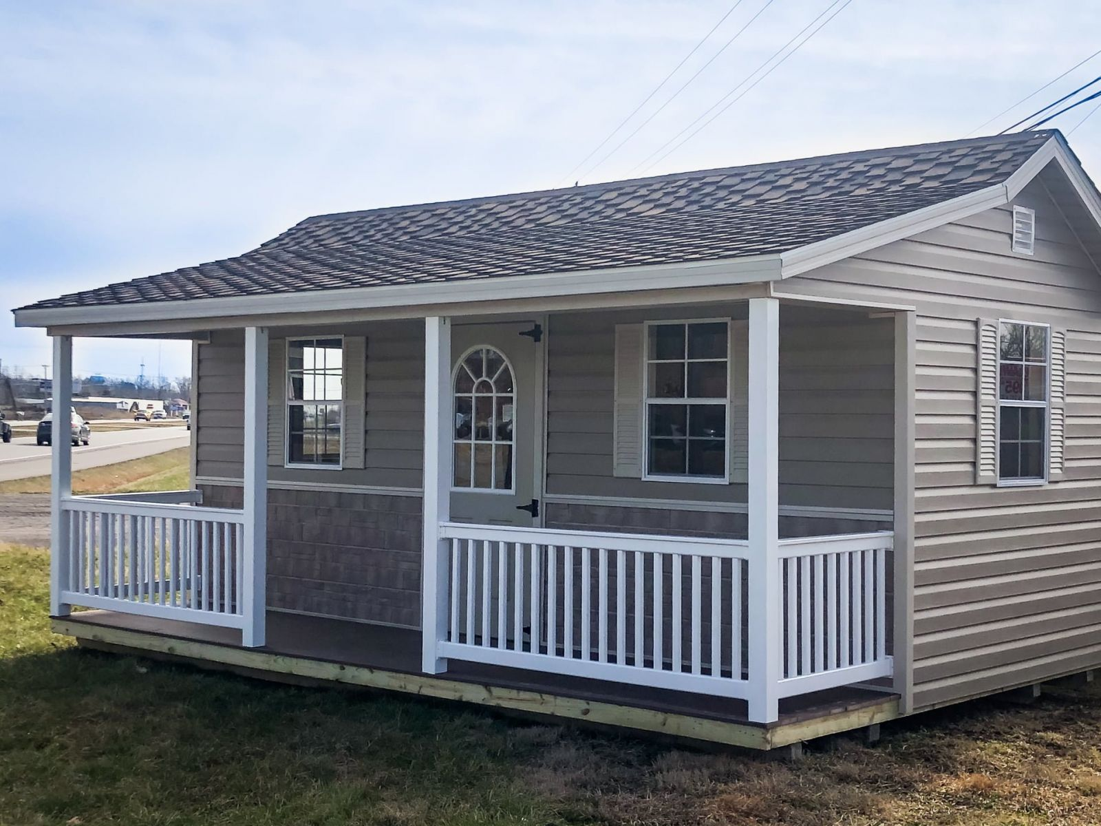 A prefab cabin shed for sale near Russellville, KY