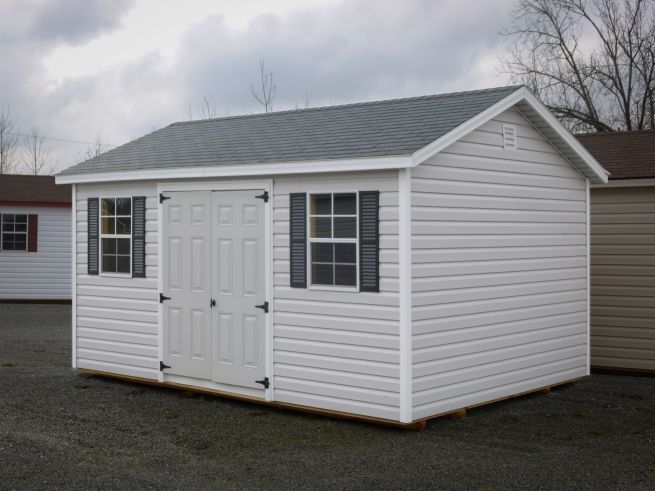 A storage shed for sale in Greensburg, KY