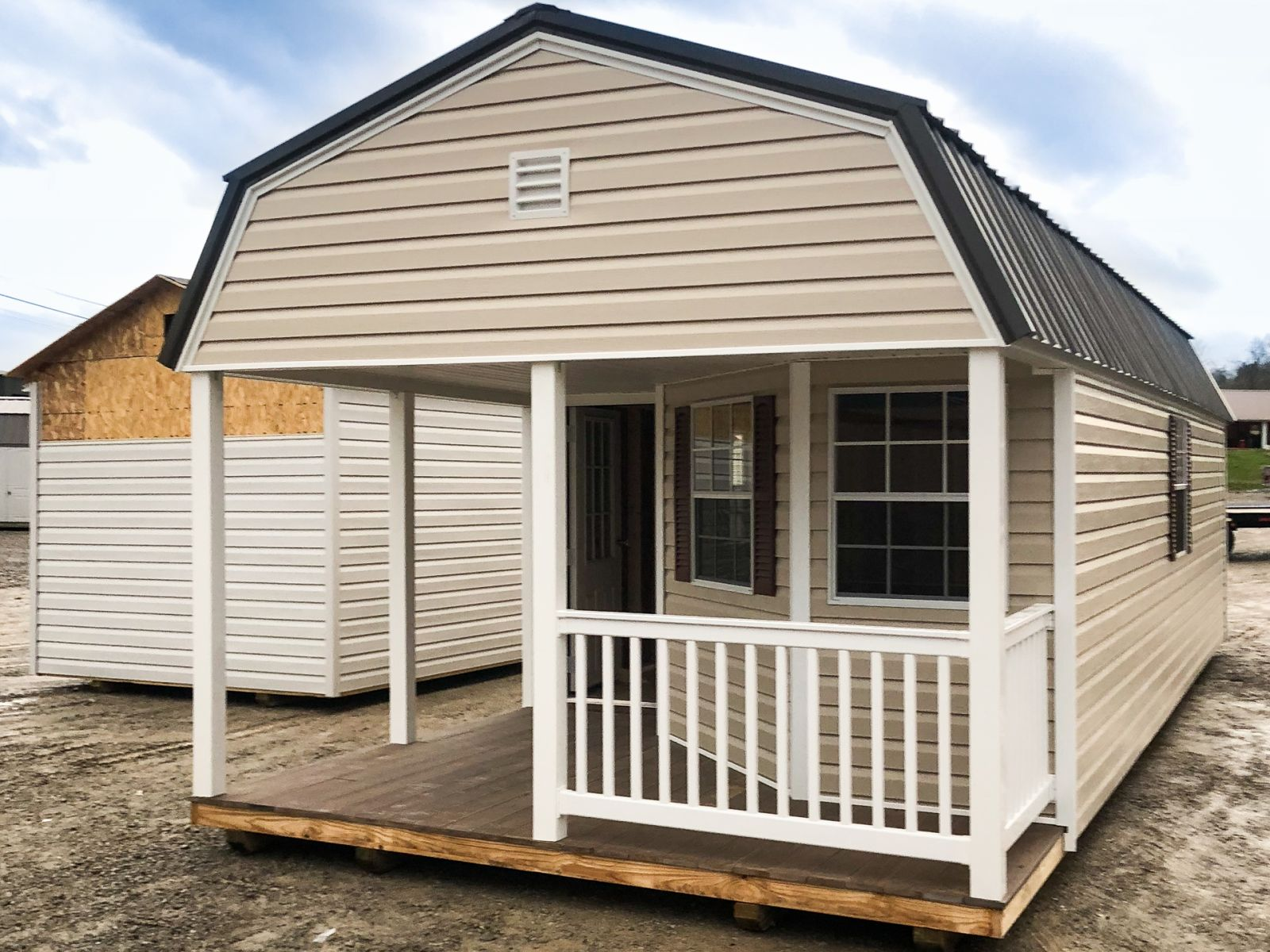 A prefab cabin shed for sale in Paris, TN