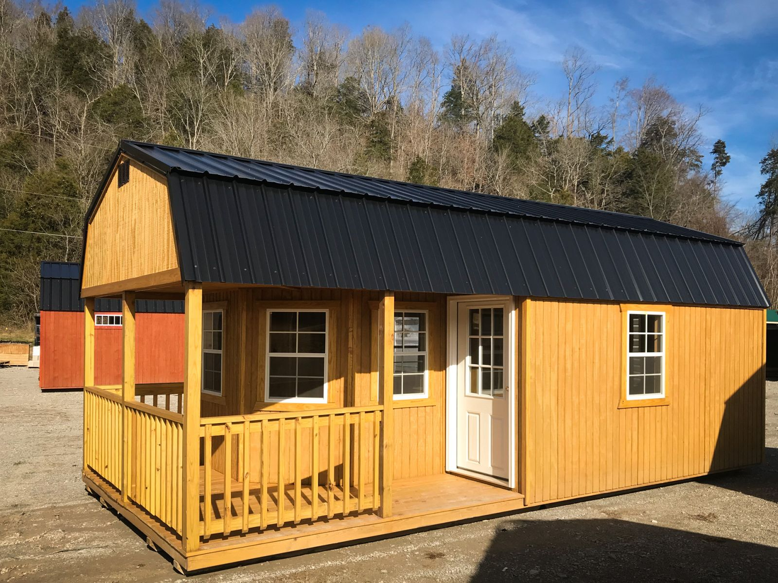 A prefab cabin shed for sale in Nashville, TN