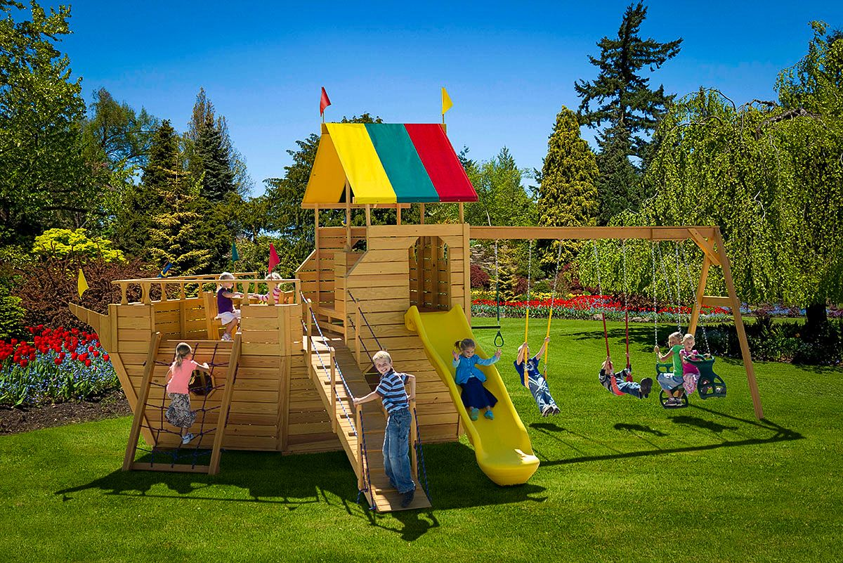 A wooden playset for sale in TN & KY