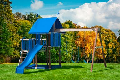A vinyl swing set for sale in KY & TN