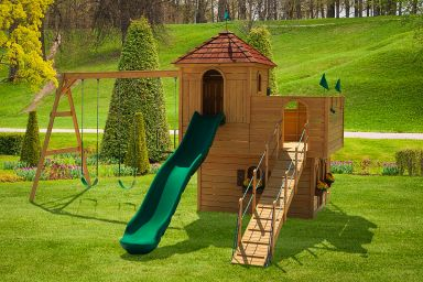 A wooden swing set for sale in TN & KY