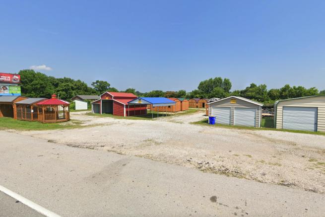 A shed sales lot near Franklin, KY
