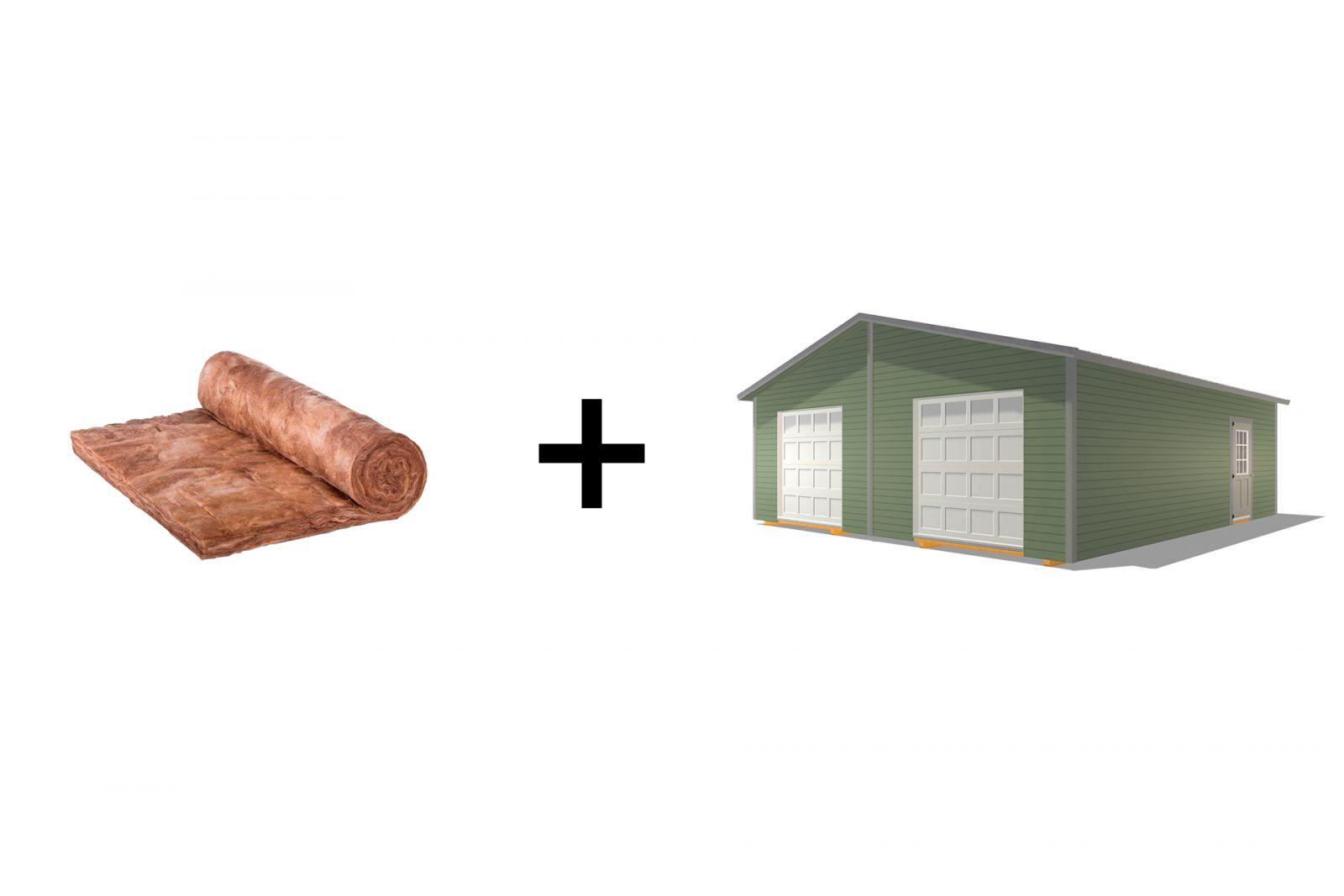 insulating a detached prefab garage