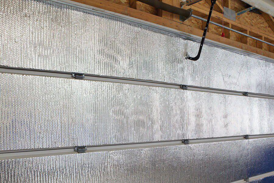 radiant insulation for detached garage door