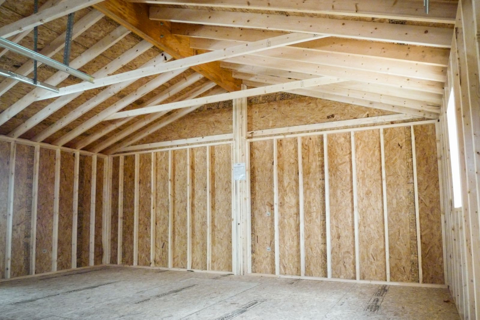 ready for insulating an unheated detached garage