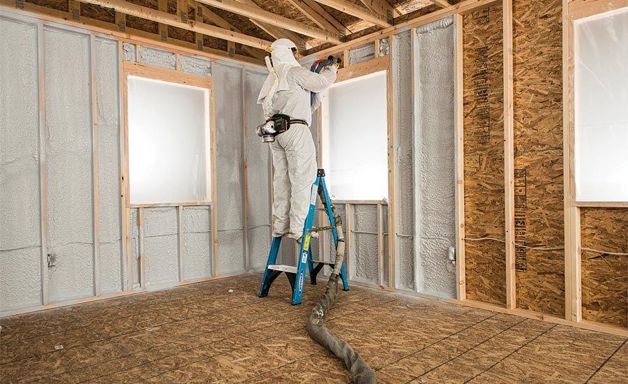 insulating a detached garage with spray foam