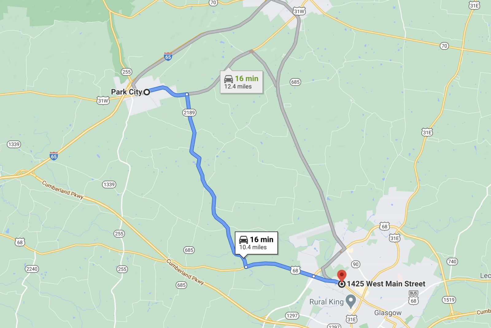 Directions to sheds for sale in Park City, KY