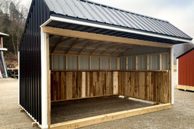 A black horse run in shed sold in Kentucky