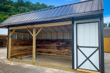 A prefab metal animal shelter for sale in Kentucky