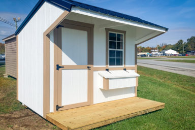 A prefab animal shelter for sale in Kentucky for chickens