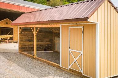 A custom prefab animal shelter for sale in Kentucky