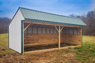 A prefab animal shelter for sale in Kentucky for horses