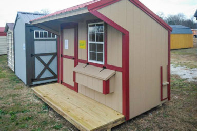 A small prefab animal shelter for sale in Tennessee for chickens