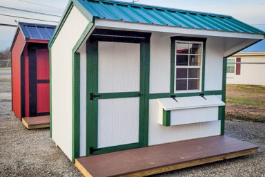 A prefab chicken coop for sale in Kentucky