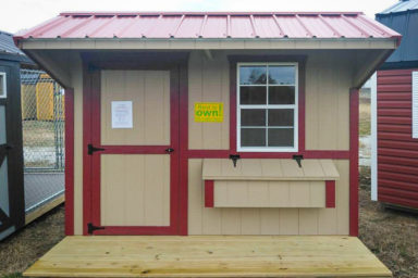 A rent-to-own chicken coop for sale in Kentucky