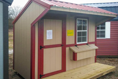 A rent-to-own chicken coop for sale in Tennessee