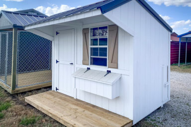 A small white chicken coop for sale in Tennessee