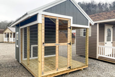A prefab outdoor dog kennel for sale in Kentucky