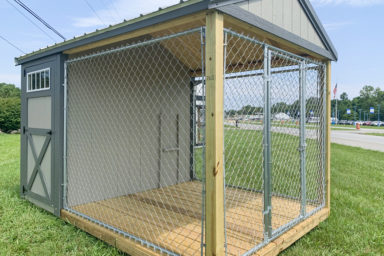 An 8x12 outdoor dog kennel for sale in Tennessee