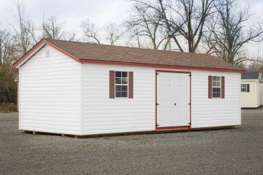 A prefab garage shed in Kentucky
