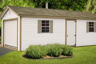A single-car garage shed in Kentucky