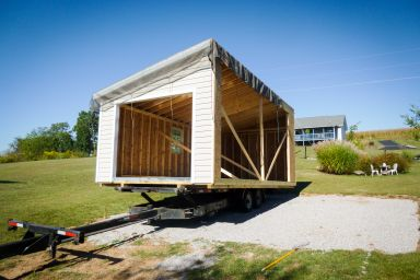 A modular garage delivery in Kentucky